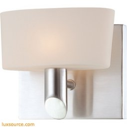 Toby 1 Light Vanity In Chrome And White Opal Glass