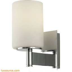 Truss 1 Light Vanity In Chrome And White Opal Glass