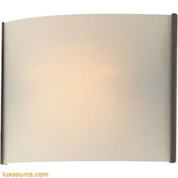 Pannelli 1 Light Vanity In Oil Rubbed Bronze And Hand-Moulded White Opal Glass