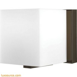 Borg 1 Light Vanity In Oil Rubbed Bronze And White Opal Glass
