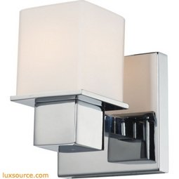 Lexington 1 Light Vanity In Chrome And White Opal Glass