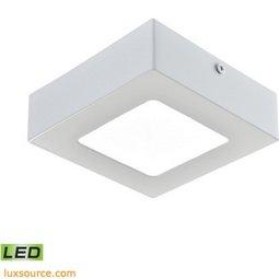 Warwick 1 Light Square LED Flushmount In Matte White - Small