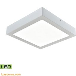 Warwick 1 Light Square LED Flushmount In Matte White - Large