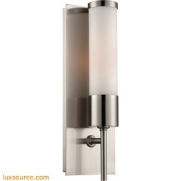 Eve 1 Light Sconce In Satin Nickel With White Opal Glass