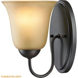 Conway 1 Light Bath Bar In Oil Rubbed Bronze 1201WS/10