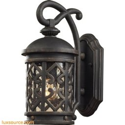 Tuscany Coast 1 Light Exterior Wall Mount In Weathered Charcoal