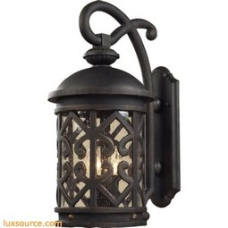 Tuscany Coast 2 Light Exterior Wall Mount In Weathered Charcoal