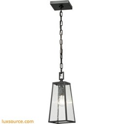 Mediterano 1 Light Exterior Hanging Lamp In Charcoal