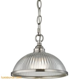 Liberty Park 1 Light Pendant In Brushed Nickel 7661PS/20