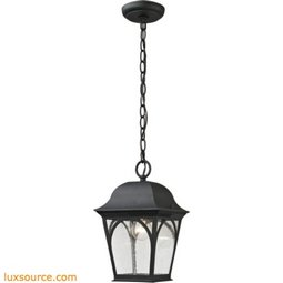Cape Ann 1 Light Outdoor Pendant Lantern In Matte Textured Black 8301EH/65