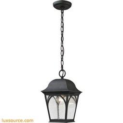 Cape Ann 1 Light Outdoor Pendant Lantern In Matte Textured Black 8301EH/65