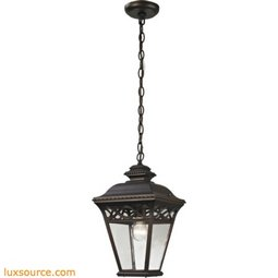 Mendham 1 Light Exterior Pendant Lantern In Hazelnut Bronze