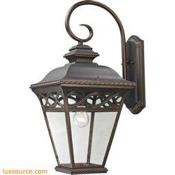 Mendham 1 Light Exterior Coach Lantern In Hazelnut Bronze