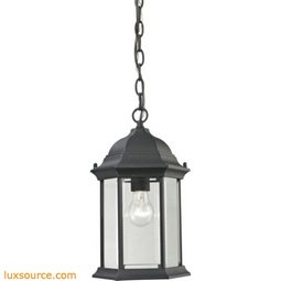 Spring Lake 1 Light Exterior Hanging Lamp In Matte Textured Black