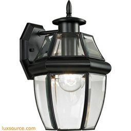 Ashford 1 Light Exterior Coach Lantern In Black