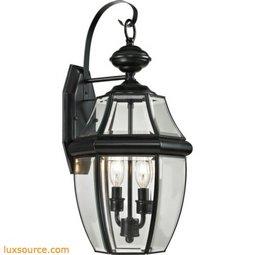 Ashford 2 Light Exterior Coach Lantern In Black