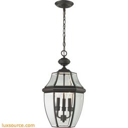 Ashford 3 Light Exterior Hanging Lantern In Oil Rubbed Bronze
