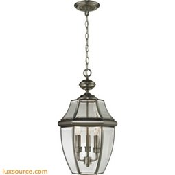Ashford 3 Light Exterior Hanging Lantern In Antique Nickel