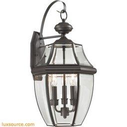 Ashford 3 Light Exterior Coach Lantern In Oil Rubbed Bronze