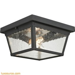 Springfield 2 Light Exterior Flush Mount In Matte Textured Black 9002EF/65