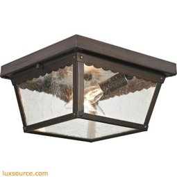 Springfield 2 Light Exterior Flush Mount In Hazelnut Bronze 9002EF/70