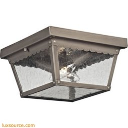 Springfield 2 Light Exterior Flush Mount In Antique Nickel 9002EF/80