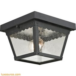 Springfield 2 Light Exterior Flush Mount In Matte Textured Black 9102EF/65