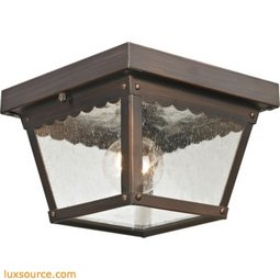 Springfield 2 Light Exterior Flush Mount In Hazelnut Bronze 9102EF/70