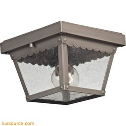 Springfield 2 Light Exterior Flush Mount In Dark Pewter 9102EF/80