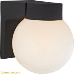 1 Light Outdoor Wall Sconce In Matt Black 9201EW/65