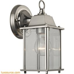 1 Light Outdoor Wall Sconce In Brushed Nickel 9231EW/80