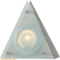 Aurora 1 Light Wedge Disc Light In Stainless Steel A722/29