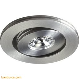 Alpha Collection 1 Light Multi-Directional LED Button In Brushed Aluminum A736DL/29