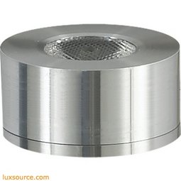 Alpha Collection 1 Light LED Surface Mount Button In Brushed Aluminum A739DL/29