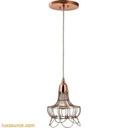 Rose Copper Wire Pendant