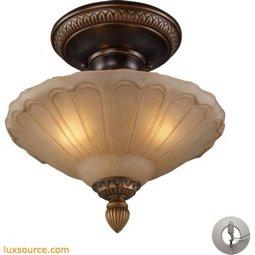 Restoration Flushes 3 Light Semi Flush In Antique Golden Bronze - Includes Recessed Lighting Kit 08092-AGB-LA