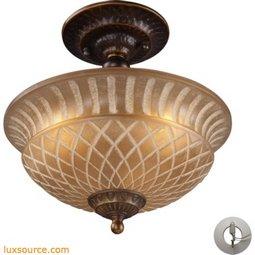 Restoration Flushes 3 Light Semi Flush In Antique Golden Bronze - Includes Recessed Lighting Kit 08097-AGB-LA