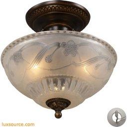 Restoration Flushes 3 Light Semi Flush In Antique Golden Bronze - Includes Recessed Lighting Kit 08098-AGB-LA
