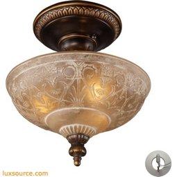 Restoration Flushes 3 Light Semi Flush In Antique Golden Bronze - Includes Recessed Lighting Kit 08100-AGB-LA