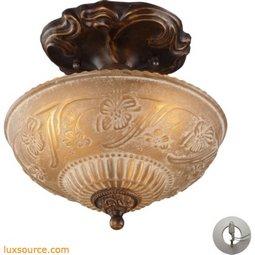 Restoration Flushes 3 Light Semi Flush In Antique Golden Bronze - Includes Recessed Lighting Kit 08103-AGB-LA
