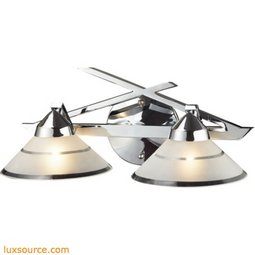 Refraction 2 Light Vanity In Polished Chrome 1471/2