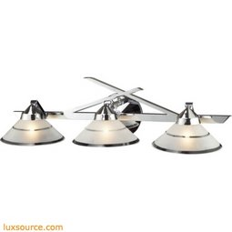 Refraction 3 Light Vanity In Polished Chrome 1472/3