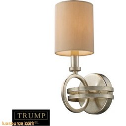 New York 1 Light Wall Sconce In Renaissance Silver Leaf