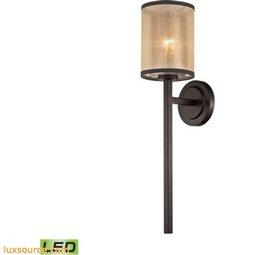 Diffusion 1 Light LED Wall Sconce In Oil Rubbed Bronze 57023/1-LED