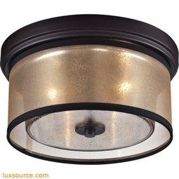Diffusion 2 Light Flushmount In Oil Rubbed Bronze 57025/2