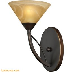 Elysburg 1 Light Wall Sconce In Aged Bronze And Tea Stained Glass 7640/1