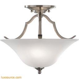 Beckett Light Indoor Semi-Flush Mount - 2 - Light - White