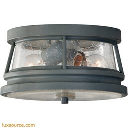 Chelsea Harbor Light Outdoor Flush Mount - 2 - Light - Clear