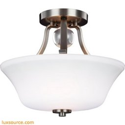 Evington Light Semi-Flush - 2 - Light - Opal