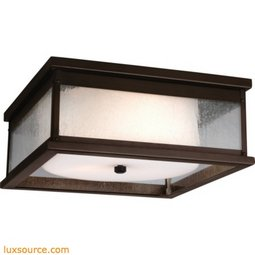 Pediment Light Outdoor Flush - 3 -Light
